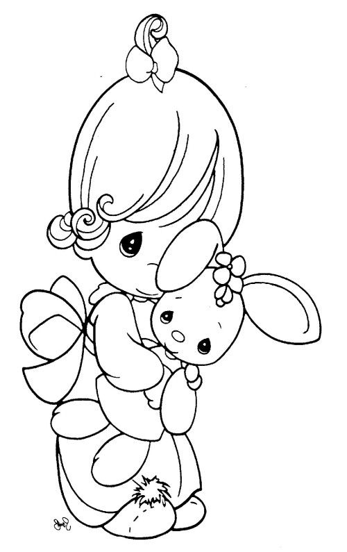 precious moments coloring pages little cuddle doll - Precious Moments Coloring Book