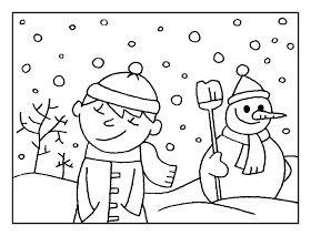 Maestra de Infantil: El invierno. Dibujos para colorear