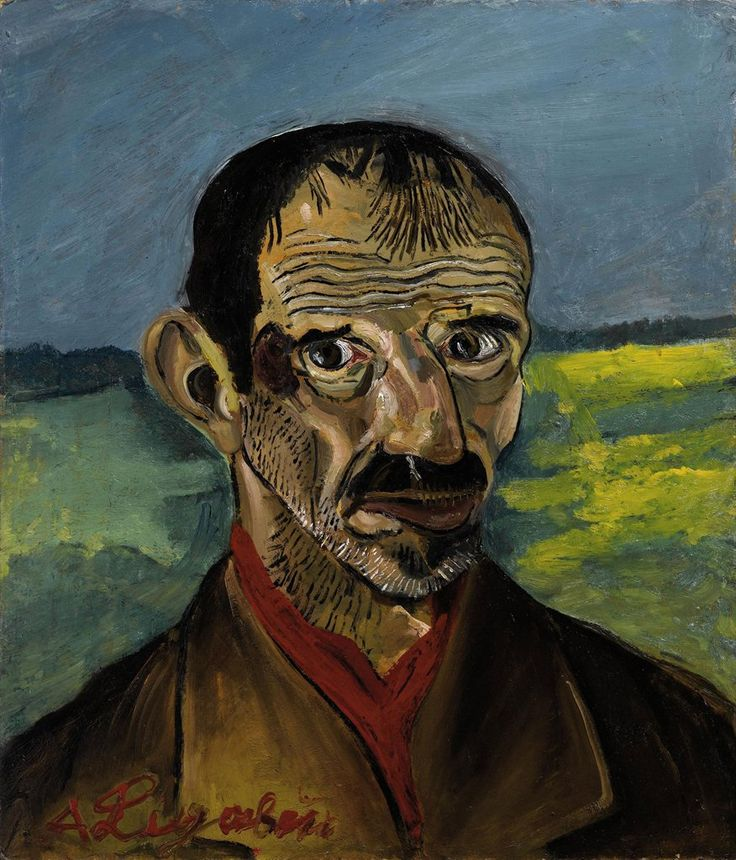 Antonio Ligabue (1899-1965), Autoritratto [Self-portrait], 1953-54