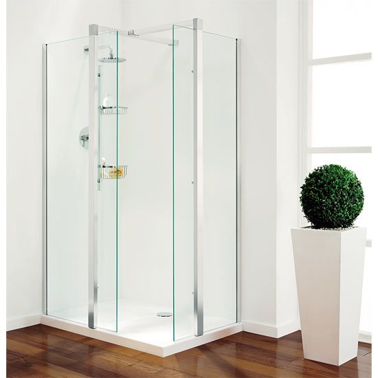 Coram - Plain Glass Pillar Shower Enclosures - 3 x Size Options