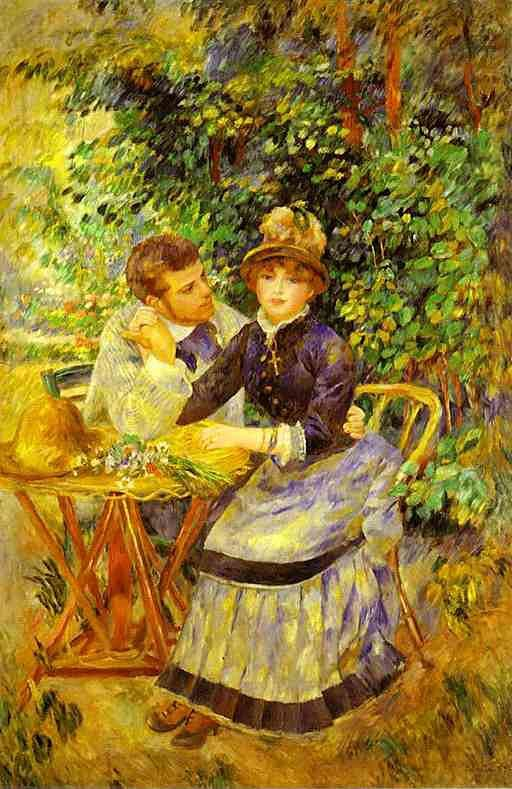 Dans le jardin Par le peintre français Pierre Auguste Renoir 1885 Huile sur toile 170.5 × 112.5 cm Musée de l'Ermitage, Saint-Pétersbourg