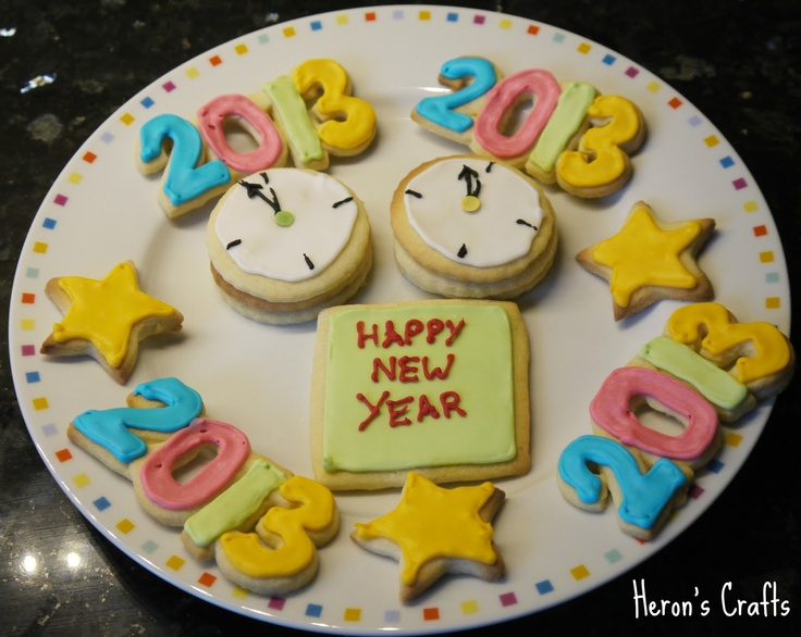 January Sugar Cookies - New Year's Eve (With images ...