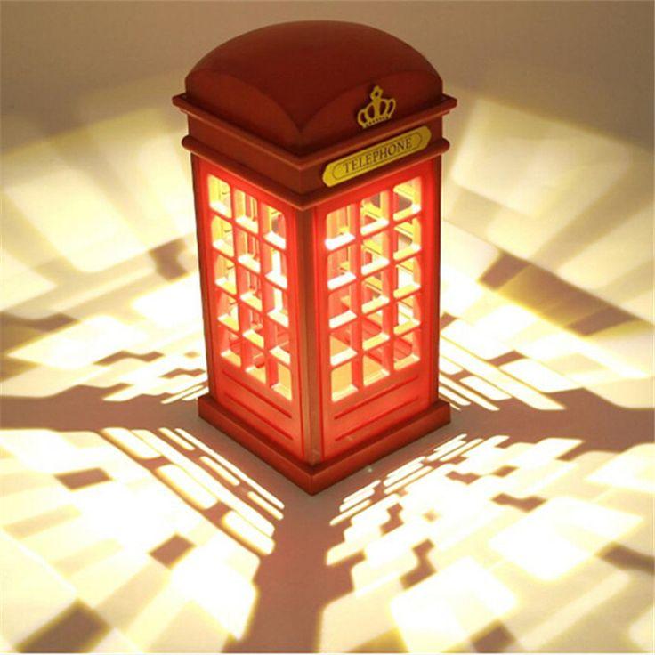 Ретро Лондон Сенсорный Телефон Стенд Свет USB Аккумуляторная Настольная Лампа Ночник Ночники Настольная Лампа Регулируемый Освещение купить на AliExpress