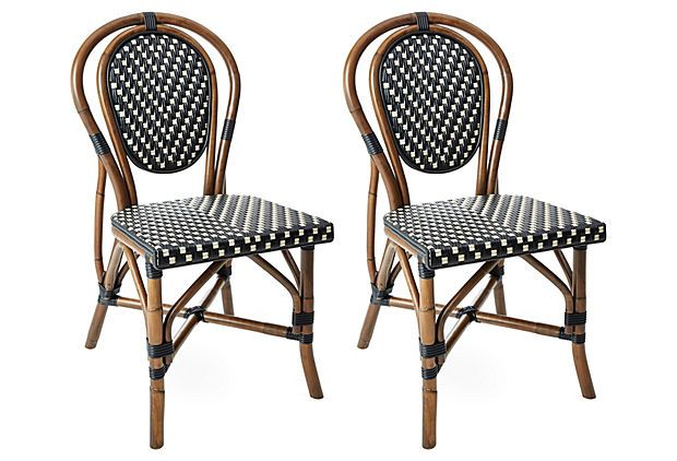 For sweetheart table....Black/White Everly Bistro Chairs, Pair on OneKingsLane.com