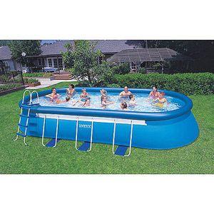 Intex 20 39 X 12 39 X 48 Oval Frame Easy Set Swimming Pool Swimming Pools Pinterest Oval