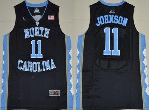 Men's North Carolina Tar Heels #11 Brice Johnson 2016 Black Swingman College Basketball Jersey