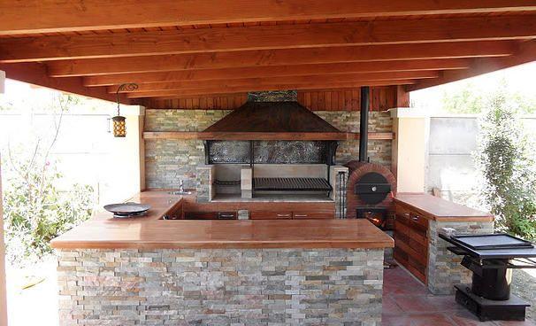 Quincho argentino y horno de pizza google search for Decoracion jardin barbacoa