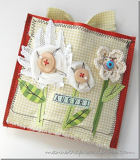 sew paper and fabric
