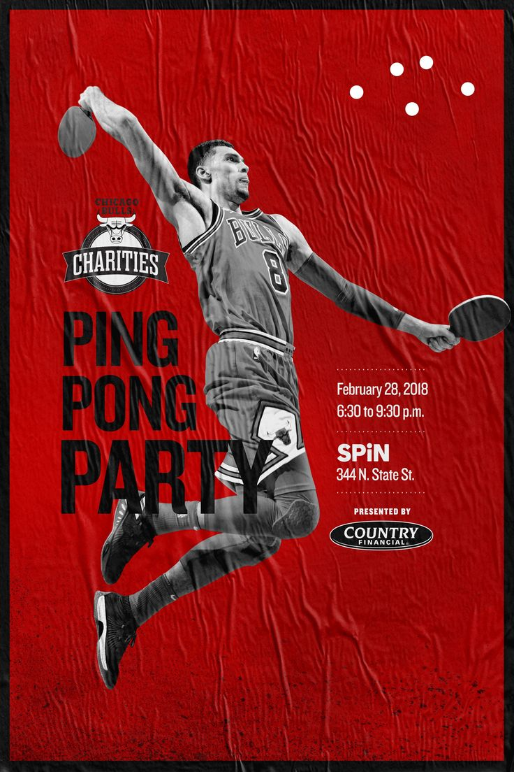 Enter to win TWO (2) TICKETS to the BULLS CHARITY PING PONG PARTY . Contest brought to you by WGN-TV. Buy tickets to event at bulls.com/spin.