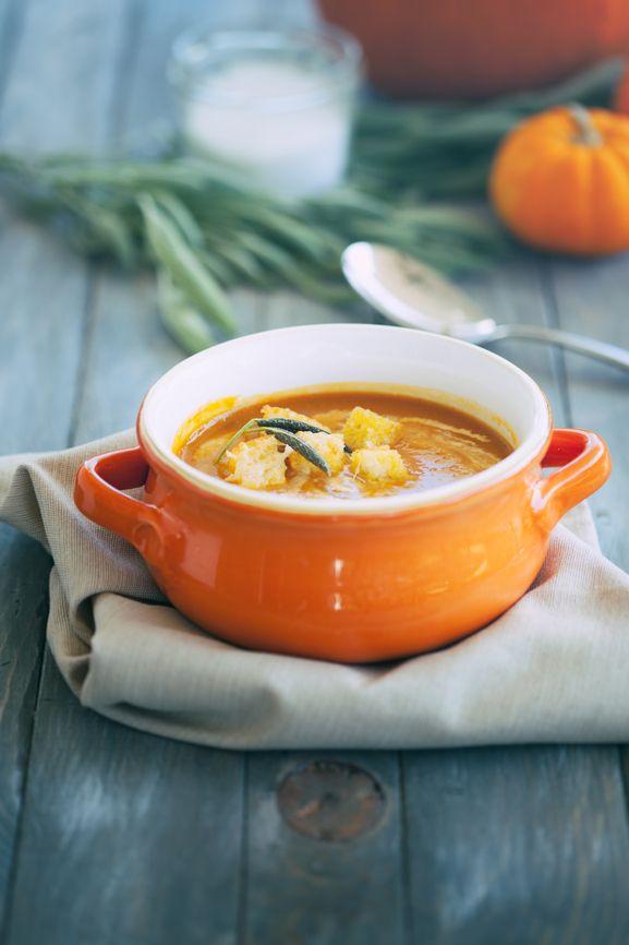 I Quit Sugar - Pumpkin Soup recipe with Parmesan Croutons