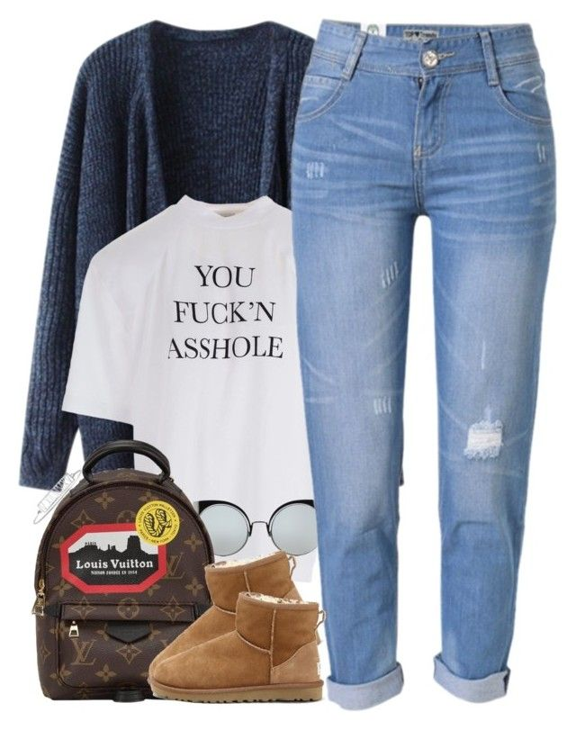 """""""#Shmood"""" by oh-aurora ❤ liked on Polyvore featuring Vetements, Fendi, WithChic, Louis Vuitton, UGG Australia and Mark & Graham"""