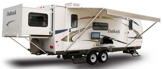 Keystone Outback travel trailer exterior