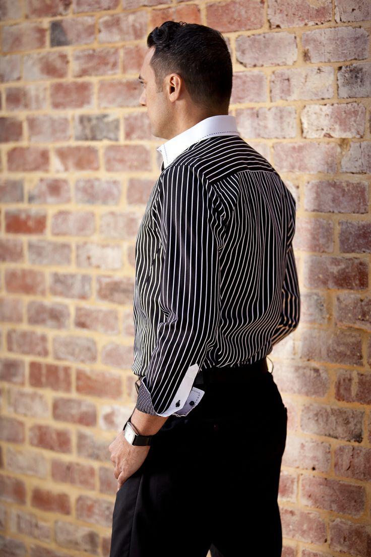 Who said looking away can't be fun?  Simon Hart Captain Louis mens dress shirt.  online at simonhart.com.au