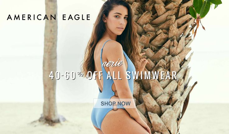 Online Only! 40-60% Off All Swimwear.  Store: #AmericanEagleOutfitters Scope: Entire Store Ends On : 04/16/2018  Get more deals: http://www.geoqpons.com/American-Eagle-Outfitters-coupon-codes  Get our Android mobile App: https://play.google.com/store/apps/details?id=com.mm.views  Get our iOS mobile App: https://itunes.apple.com/us/app/geoqpons-local-coupons-discounts/id397729759?mt=8