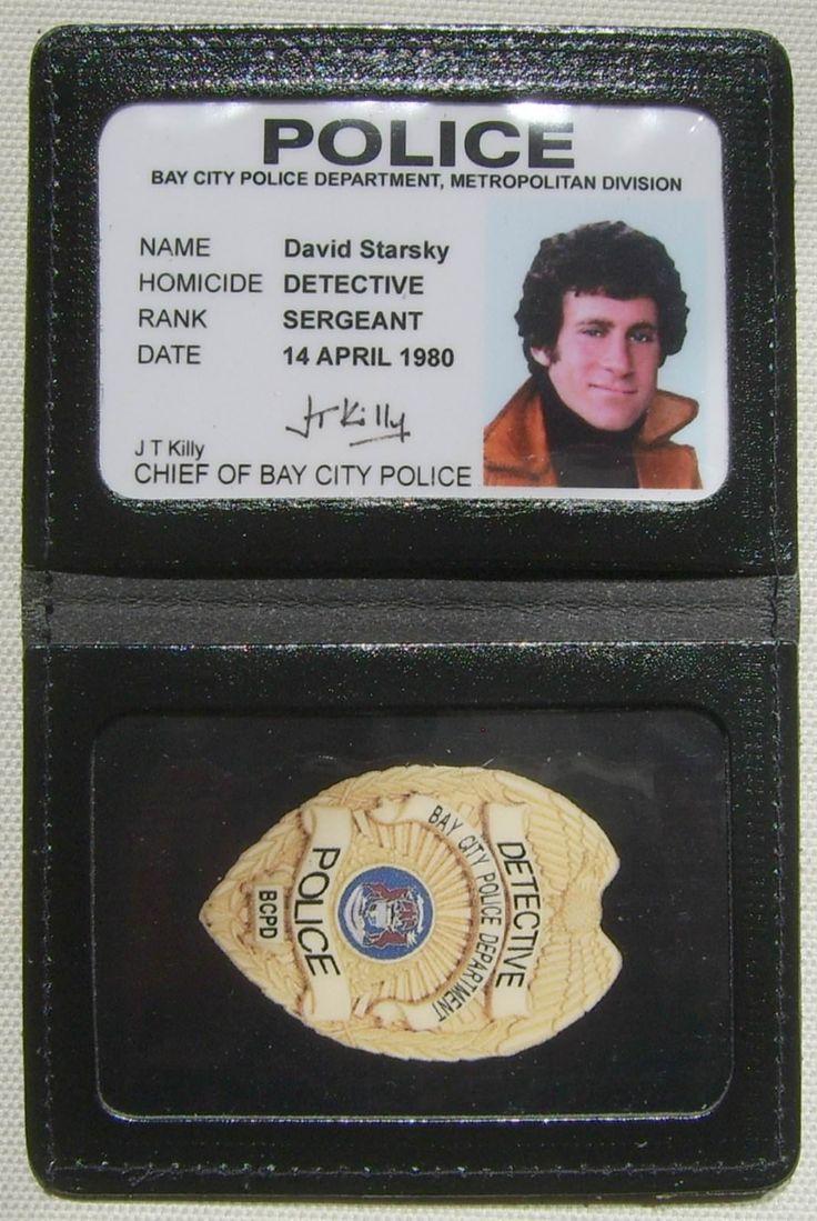 Badge en Cuir avec Carte Identification Starsky et Hutch David - Séries TV Action / Police/Starsky et Hutch - Logostore
