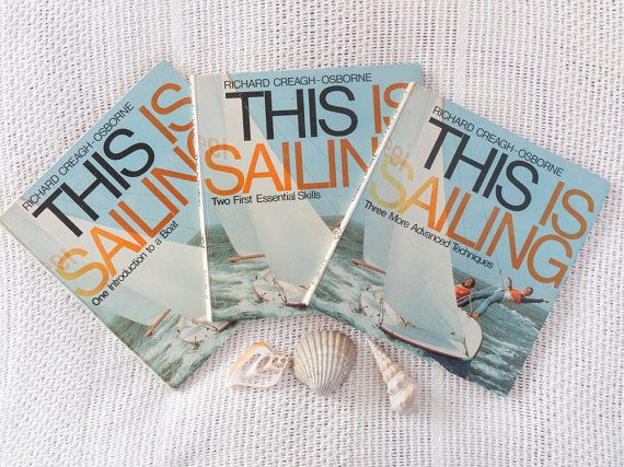 Vintage set of 3 books: 'This is Sailing' by by freshdarling