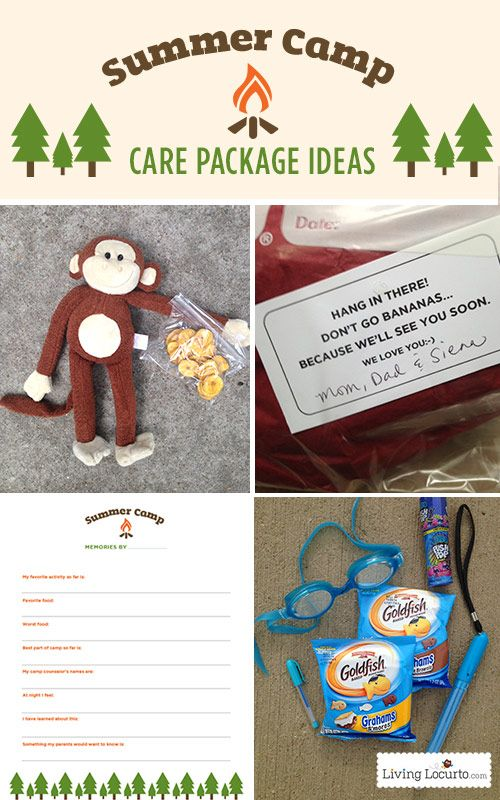 Summer Camp Care Package Ideas and Free Printables at Livinglocurto.com