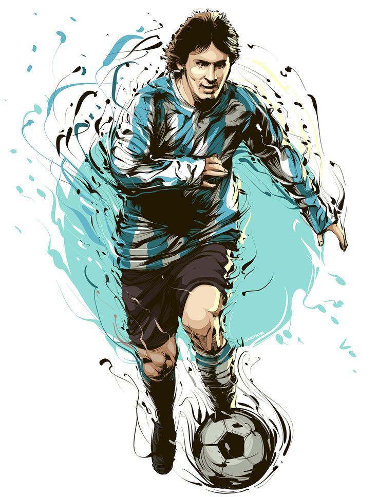 Leonel Messi of Argentina wallpaper.
