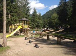 Trentino, the playground in Alba di Canazei.