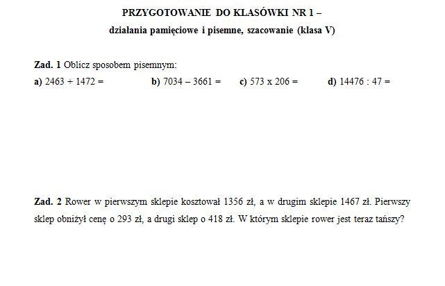 Znalezione obrazy dla zapytania matematyka cwiczenia klasa 4 do wydruku