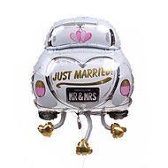 結婚式の装飾の車のメタリックバルーン - ちょうど結婚 – JPY ¥ 1,566