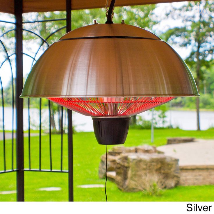 Superior Hanging Electric Infrared Outdoor Heater (White) (Aluminum), Outdoor Décor