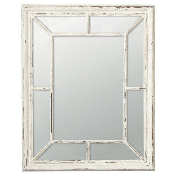 Trevarno Window Mirror, Distressed Wood