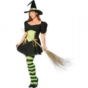 Womens adult costume witch emerald