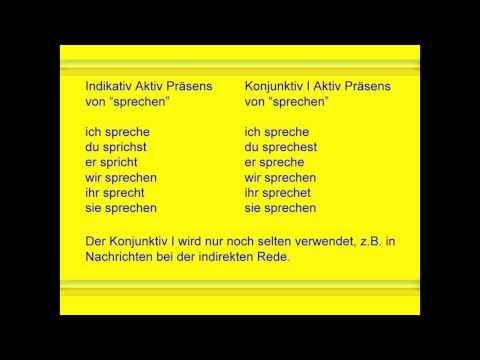 DfM 5.1 Deutsch/ Konjunktiv/ Präsens - Präteritum - YouTube