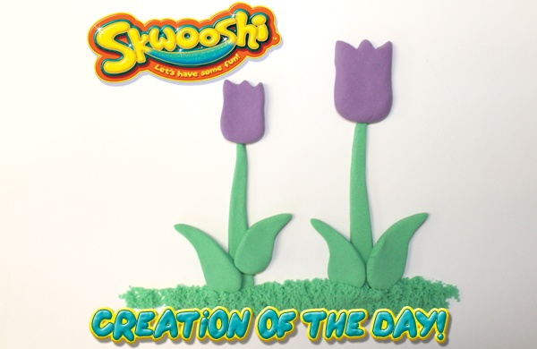 Skwooshi Creation of the Day #flowers #foodart #mold #sculpture #sculpt #play #toys #tulips  Join the fun on Facebook for exclusive giveaways https://www.facebook.com/Skwooshi