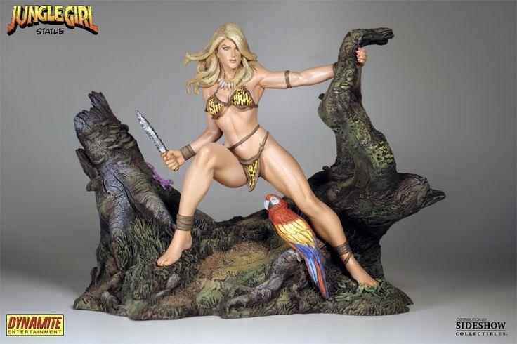 Jungle Girl Statue