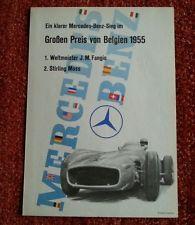 Original Mercedes-Benz Rennplakat, Großer Preis von Belgien 1955