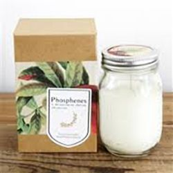 Soy Candle Large Mason Jar Pomegranate |Krinkle Gifts
