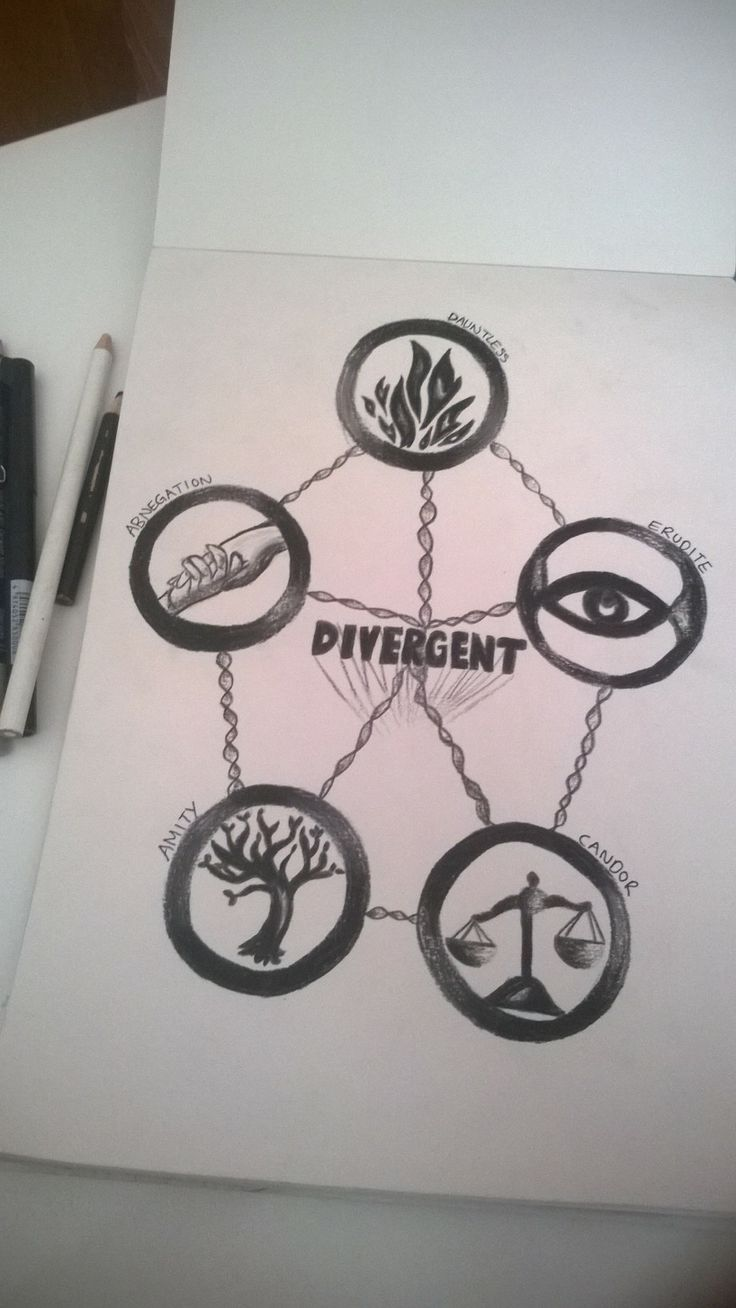 Divergent Factions Drawing ~ by Snuggle Bunny <3
