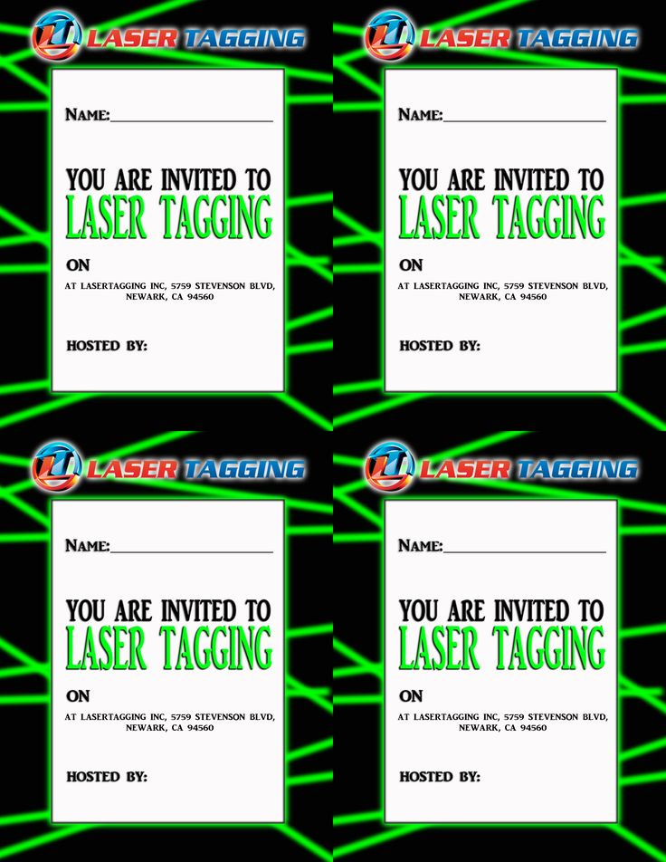 23 best laser tag party images on pinterest | laser tag party, Party invitations
