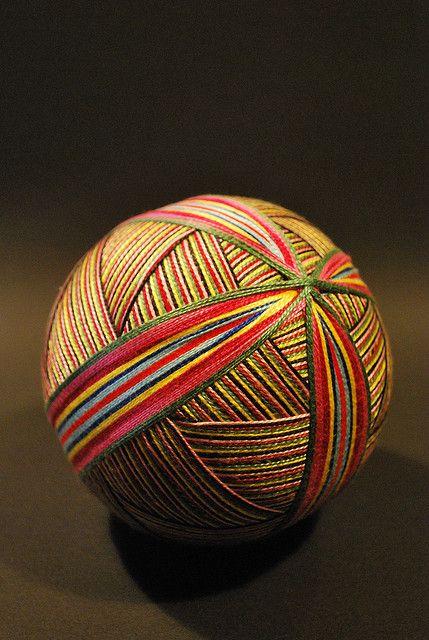 Temari, traditional Japanese handmade ball
