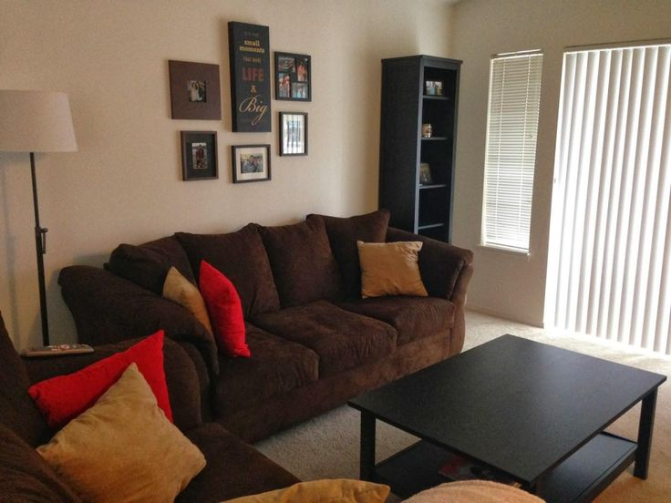67 best Living room with brown coach images on Pinterest Brown - red and brown living room