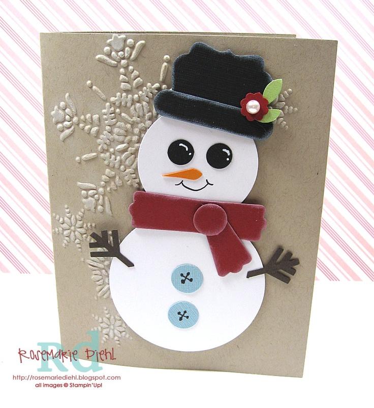 47 Best Snowman Punch Art Images On Pinterest