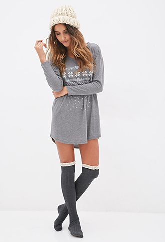 Fair Isle Nightdress | FOREVER21 - 2055878847