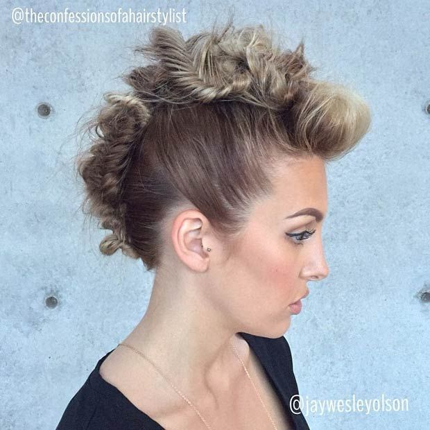 Stupendous 17 Best Ideas About Faux Hawk Hairstyles On Pinterest Medium Hairstyle Inspiration Daily Dogsangcom