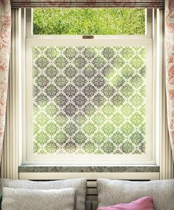 Frostbrite frosted window film will give your window the appearance of sandblasted or etched glass.