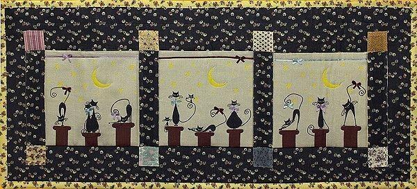Другие виды рукоделия / Пэчворк (Patchwork) / Наборы для одеял. ковриков, панно / - Набор из печворкЧудоПанно Коты нкрыше (горизонтальное) РР-2004(NOVA SLOBODA (Укр.))