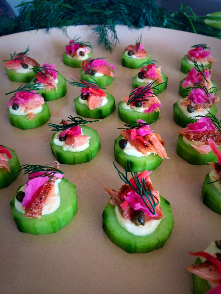 1000 images about smoked trout salmon canape recipes on for Hot canape ideas
