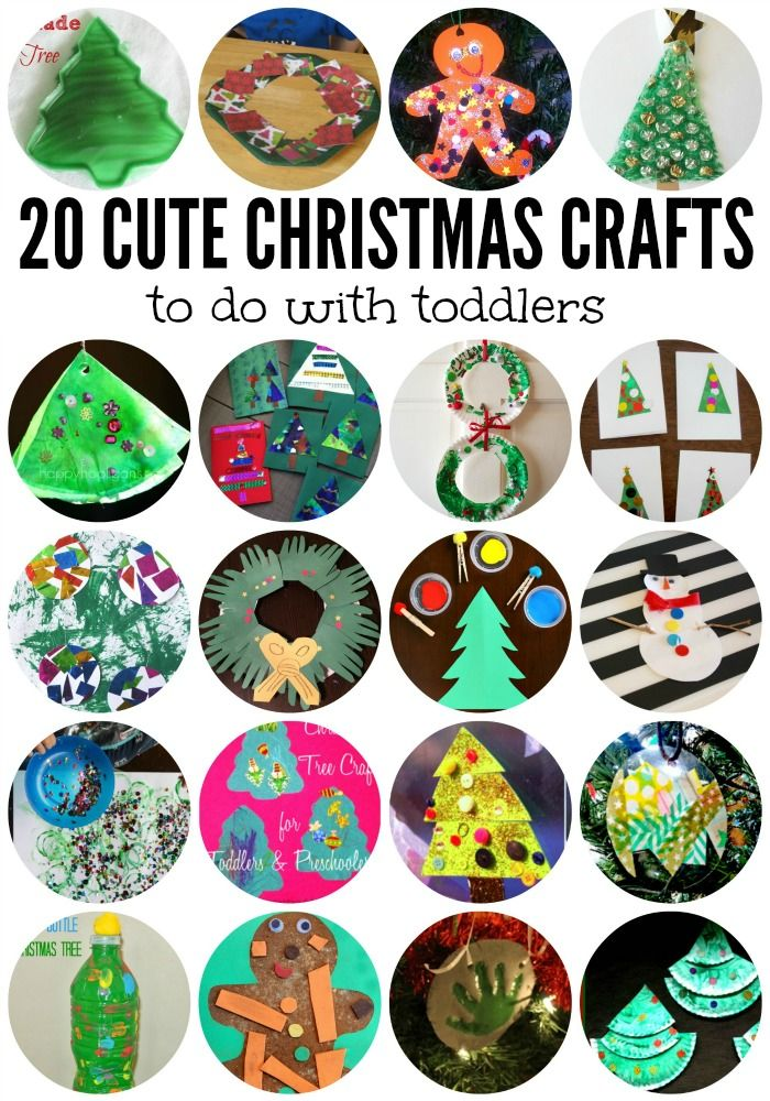 20 Cute Christmas Crafts for Toddlers! Easy to make and beautiful on the Christmas tree. Great memories from your toddler.