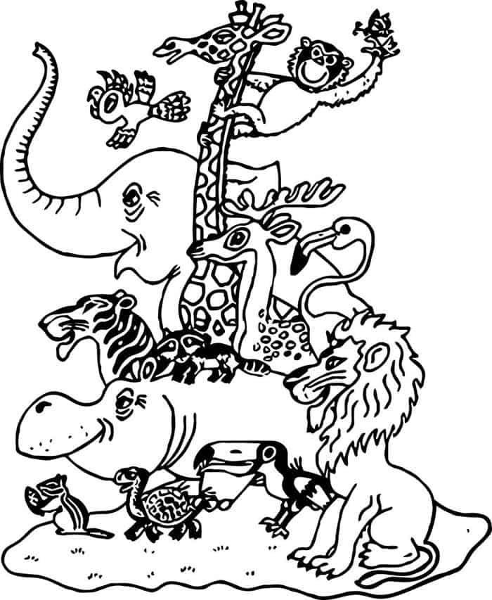 Zoo Coloring Pages Zoo Coloring Pages Zoo Animal Coloring Pages Family Coloring Pages