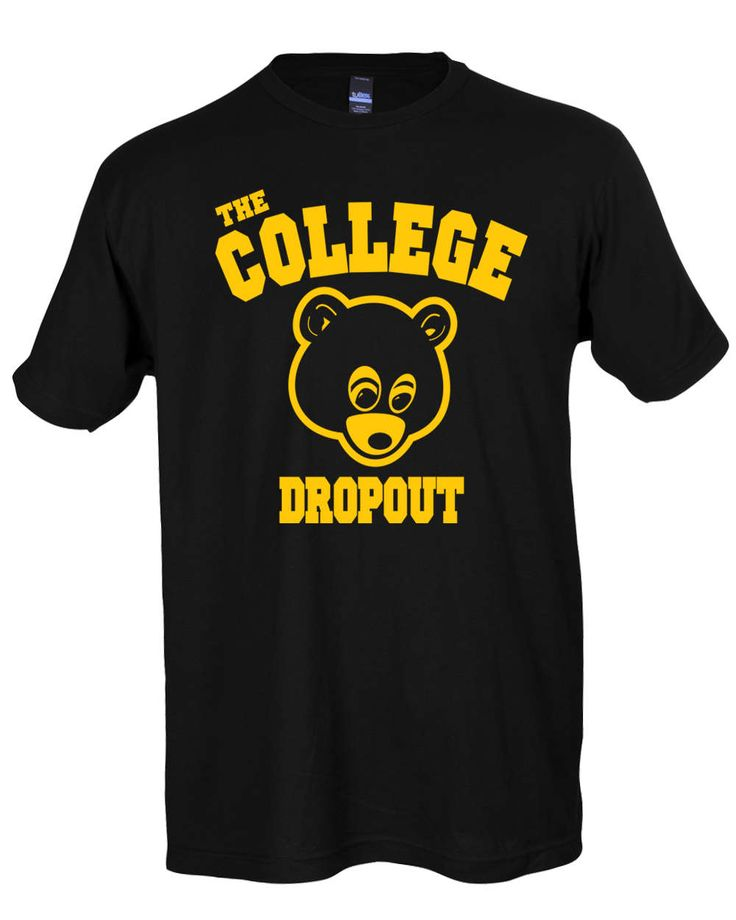 The College Dropout Shirt Kanye West T-Shirt Yeezus Tee IFLP I Feel Like Pablo by SterlingPrintShop on Etsy