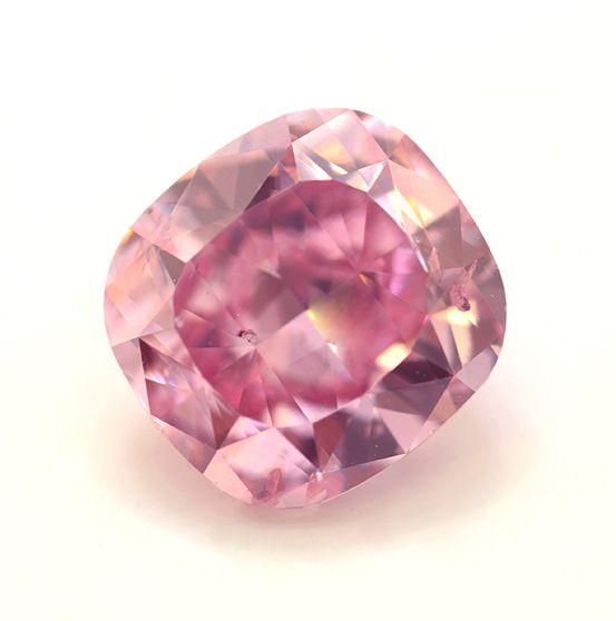 'The Leibish Pink Promise' diamond, a rare 2.02-carat fancy-vivid purplish-pink diamond from Leibish & Co.