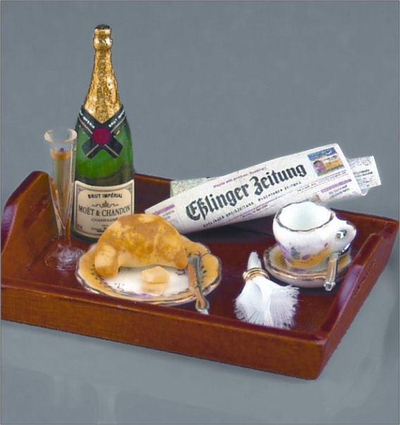 Dollhouse Champagne Breakfast Tray
