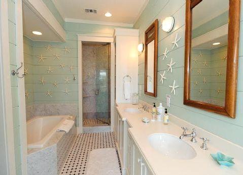 65 best lake house decor images on pinterest for Aqua bathroom ideas
