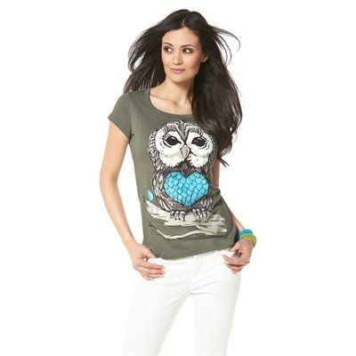 T-shirt manches courtes col rond impression devant femme CHILLYTIME